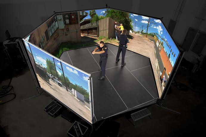 VirTra Simulator screens