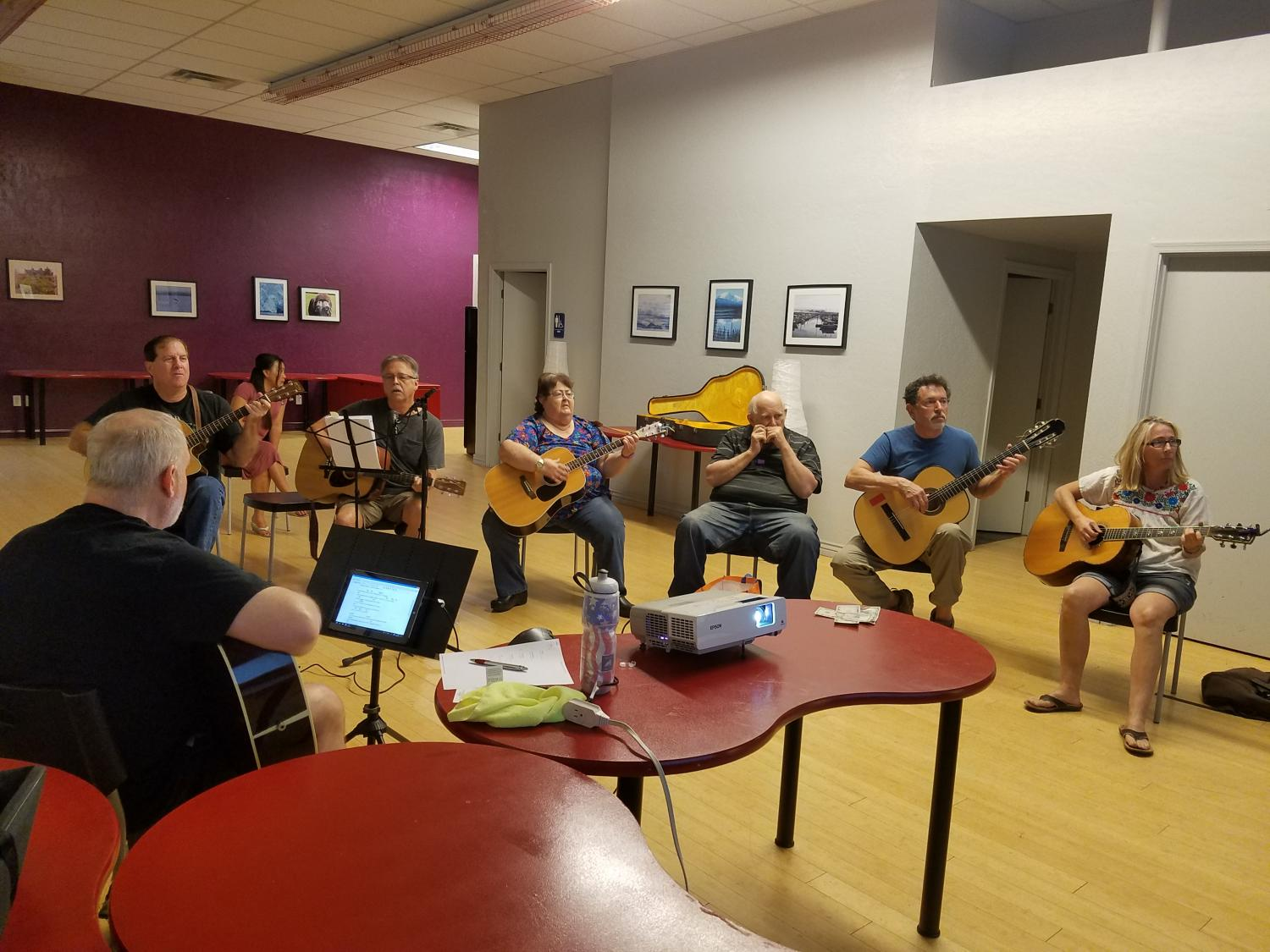 acoustic group in semi circle
