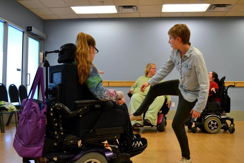 dance instructor teaching class