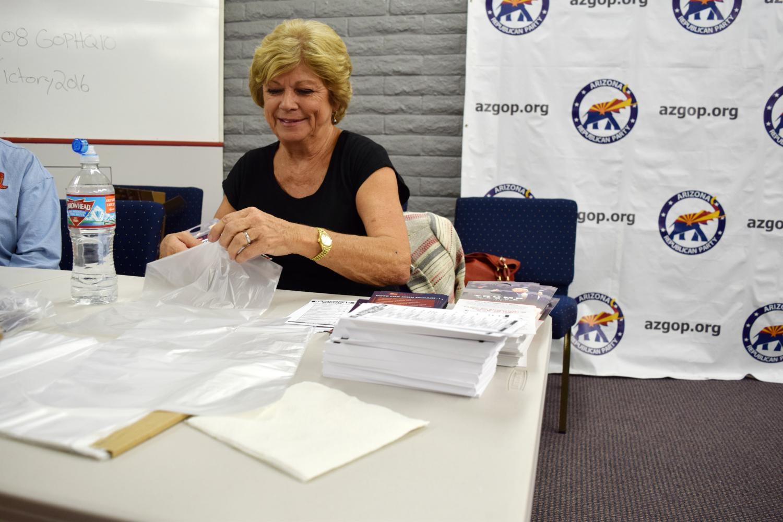 Republican Party volunteer