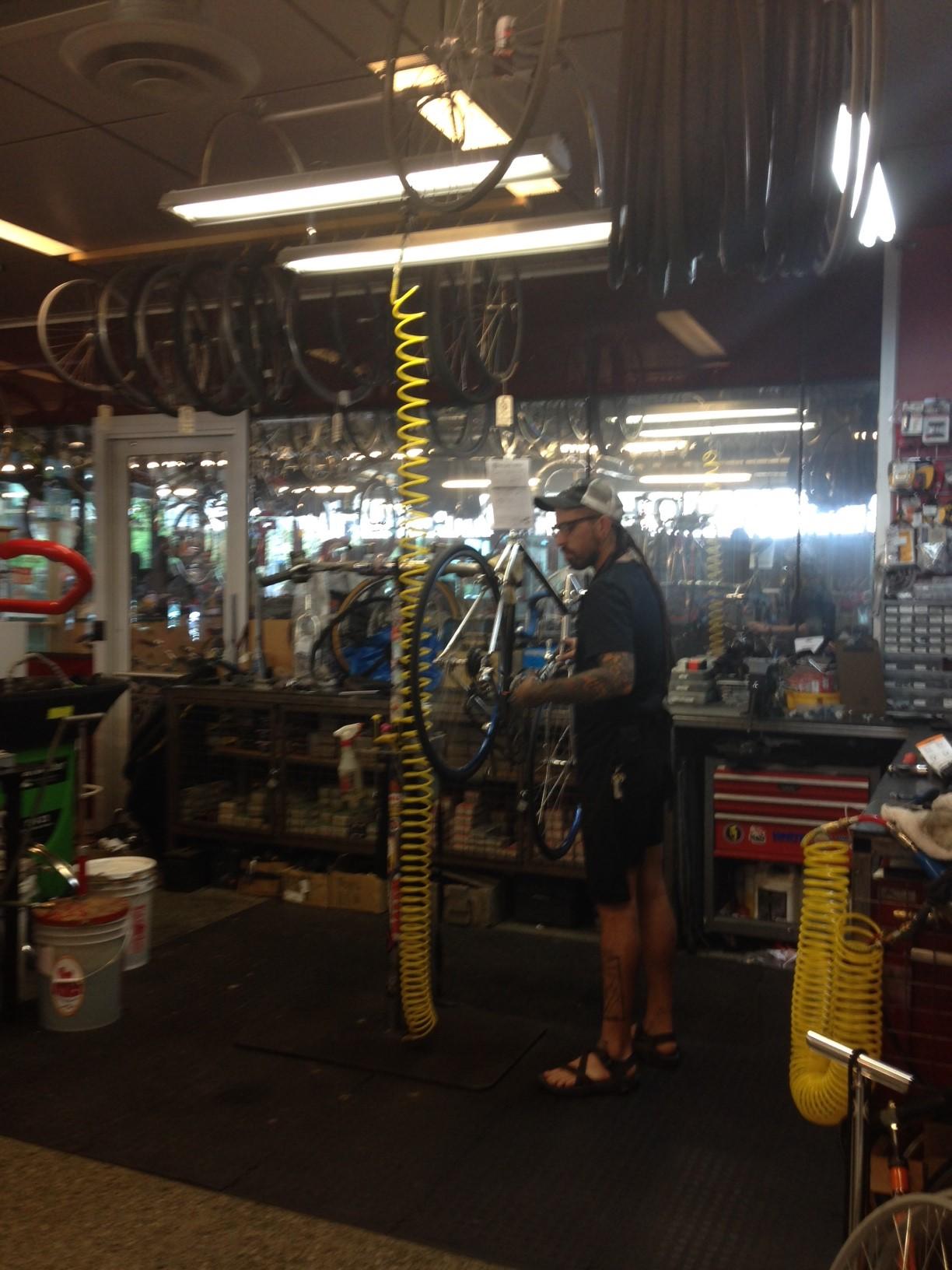 Bikes on rack