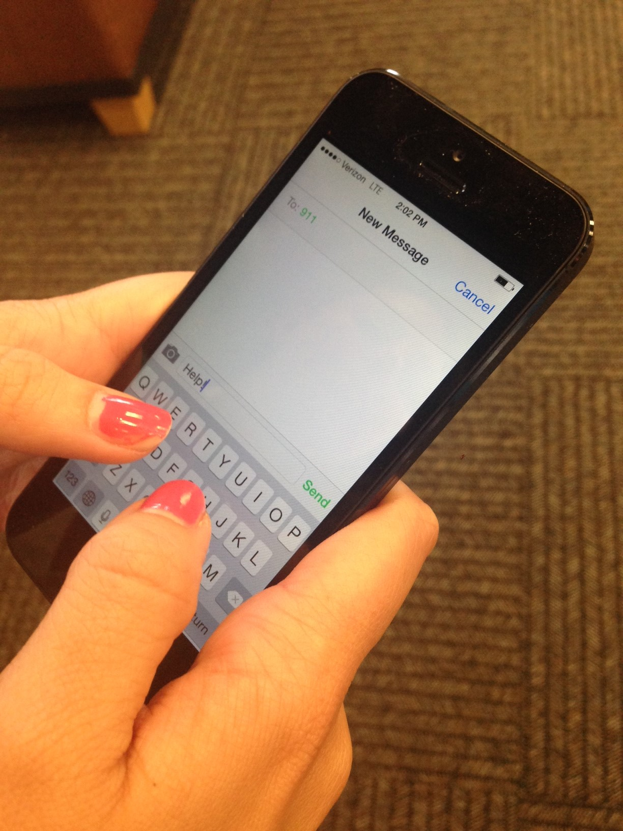 Iphone text message screen