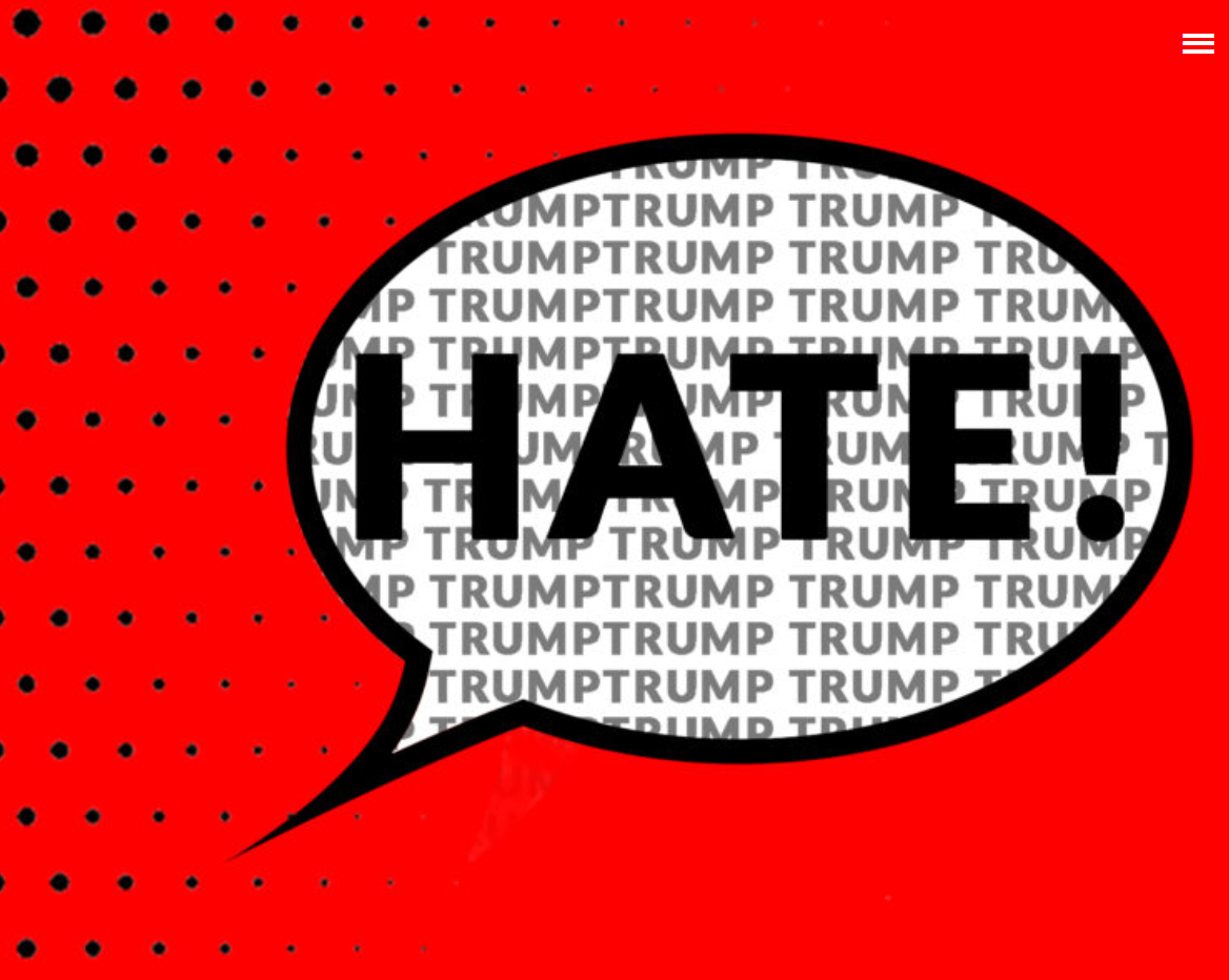 illustration of the word hate
