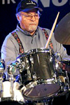 Jimmy Cobb playing drums