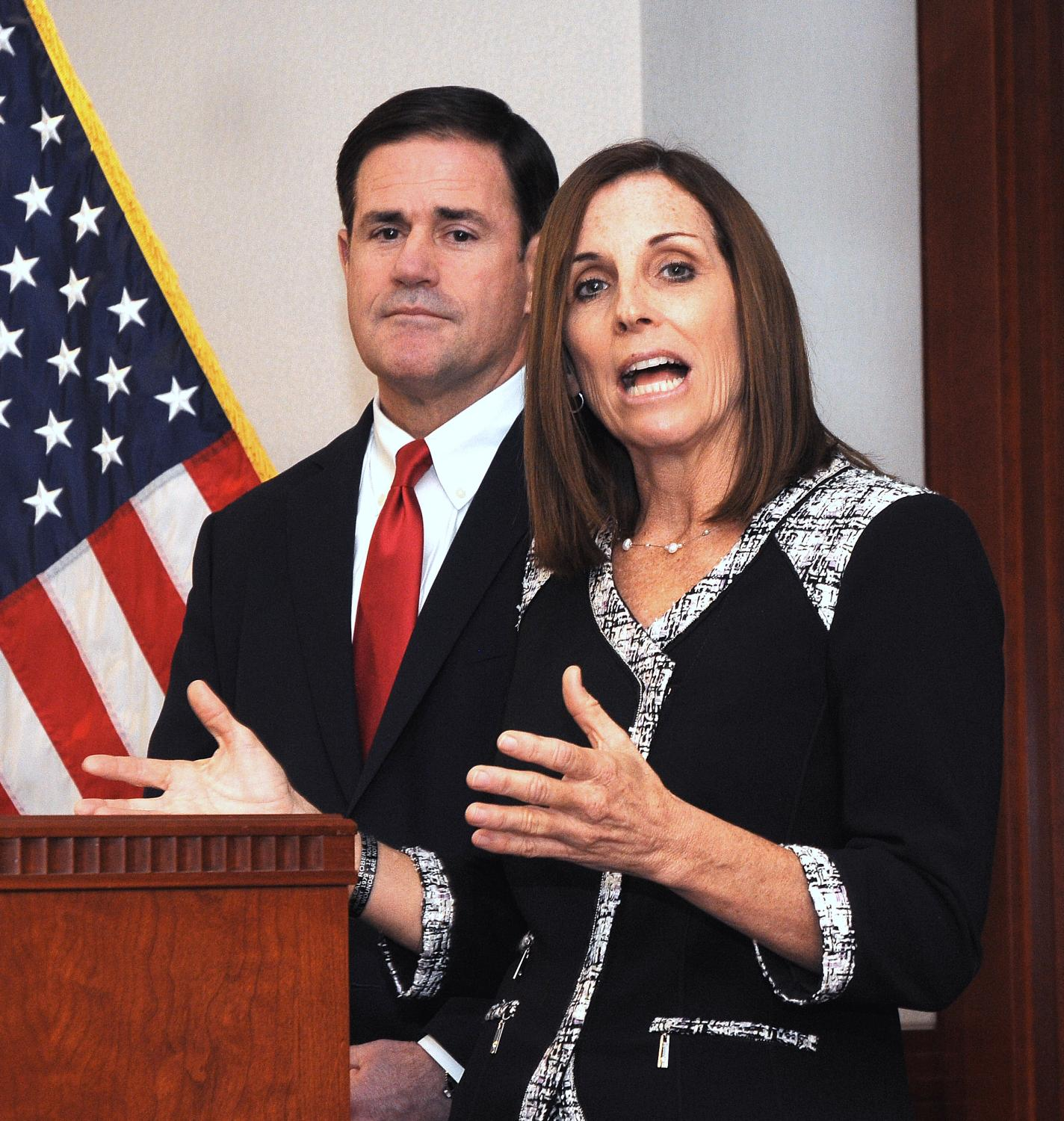 Martha McSally answers questions Tuesday on the heels of Gov. Doug Ducey appointing her to the U.S. Senate