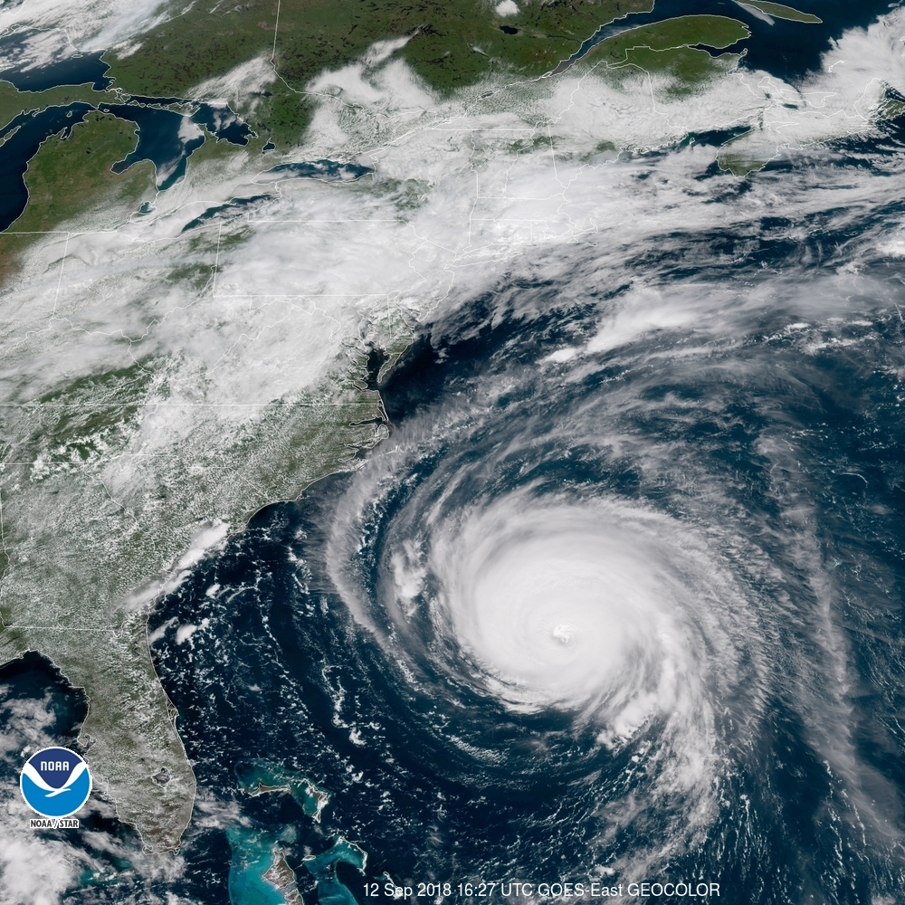 Hurricane Florence, Sep. 12