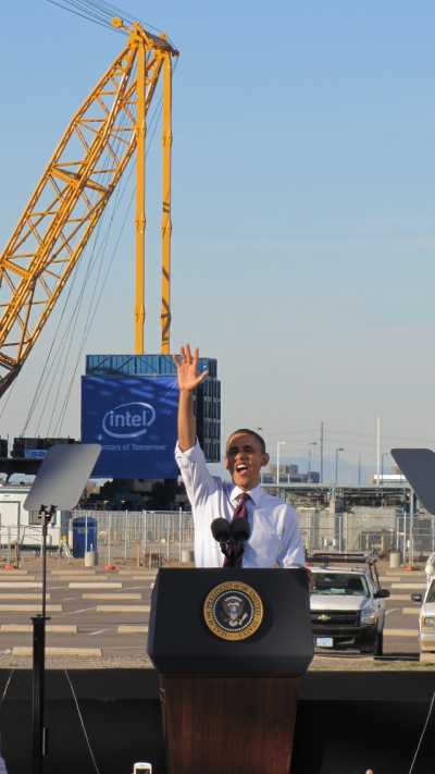 President Barack Obama at Intel