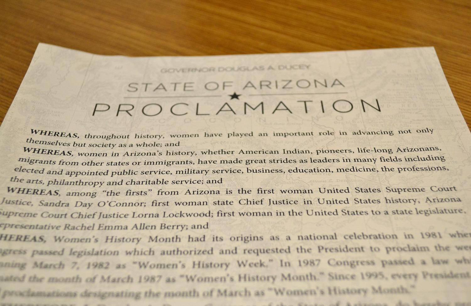 proclamation womens history month