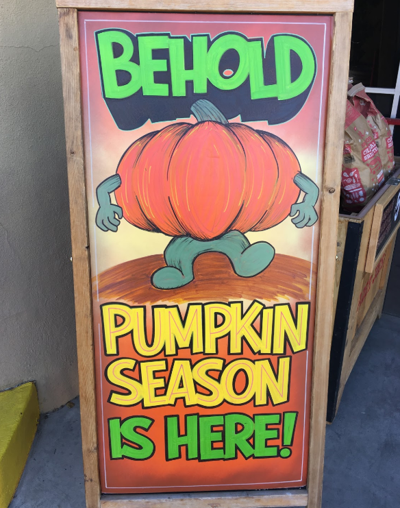 pumpkin spice sign