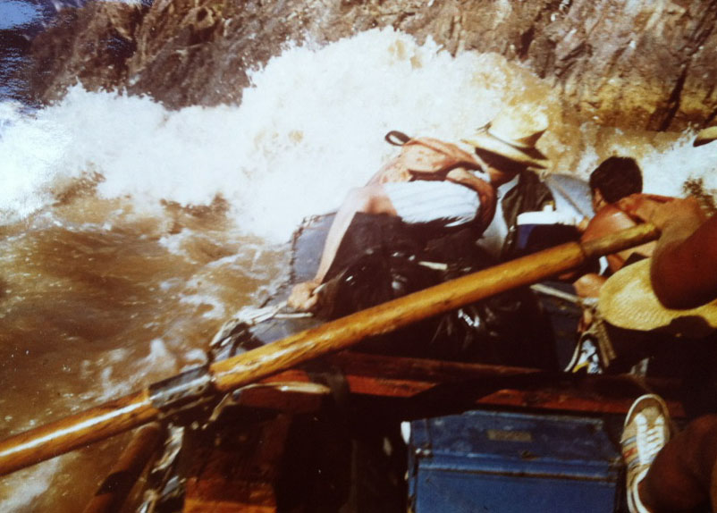 Supplee's view from a raft running the Colorado River in 1975