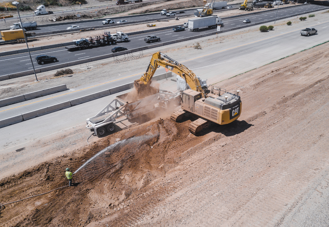 South Mountain Freeway construction