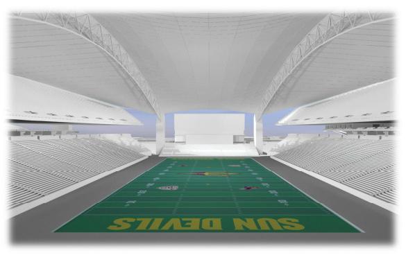 Sun Devil Stadium interior