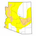 arizona drought map