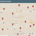 Map: Confirmed Cases Of Coronavirus Disease In Arizona