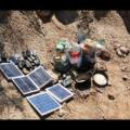 solar panels and radios