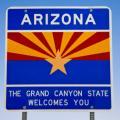 An Arizona welcome sign.