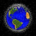 Computer generated image of space debris