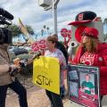 Community Members Protest Deactivation Of Red Light Cameras