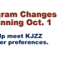 KJZZ Program Changes