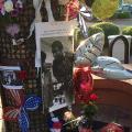 A makeshift memorial for Muhammad Ali