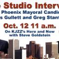 Live Studio Interview with Phoenix Mayoral Candidates - Oct 12