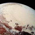 Pluto's glacial ice cap