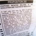 Proposition 205 on ballot