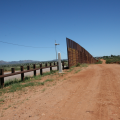 Border wall in Naco