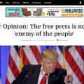 Newspaper Editorials Respond To Trump