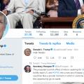a screen shot of Donald Trump's Twitter account