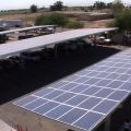 Solar panels will power the buildings of the Imperial Valley Office of Education in El Centro.