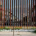 Nogales, Sonora, seen through the border fence