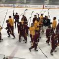 ASU hockey practices in Tempe