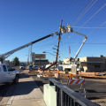 power poles down