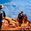 Hikers on the Grand Canyon's South Kaibab Trail