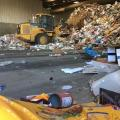sorting recycling at landfill