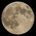 "A perigee full moon or ""supermoon"" is seen on Aug. 10, 2014, in Washington. (Photo courtesy of Bill Ingalls - NASA)"