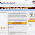 arizona science standards website