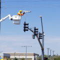 MCDOT Almost Done With Bell Road Traffic Signal Revamp