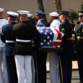 Memorials For McCain Conclude In Annapolis