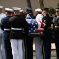 Pallbearers carry Sen. John McCain's casket