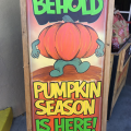 pumpkin spice sign