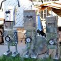 a trio of robots