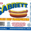 sabrett hot dog label