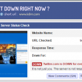 screenshot of isitdownrightnow.com