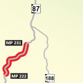 sr 87 closure map
