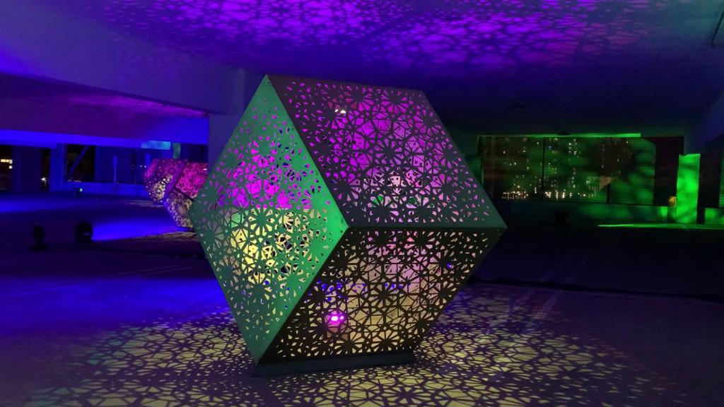 HYBYCOZO sculpture at ASU Designspace