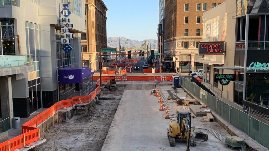 Central Avenue light rail construction CityScape