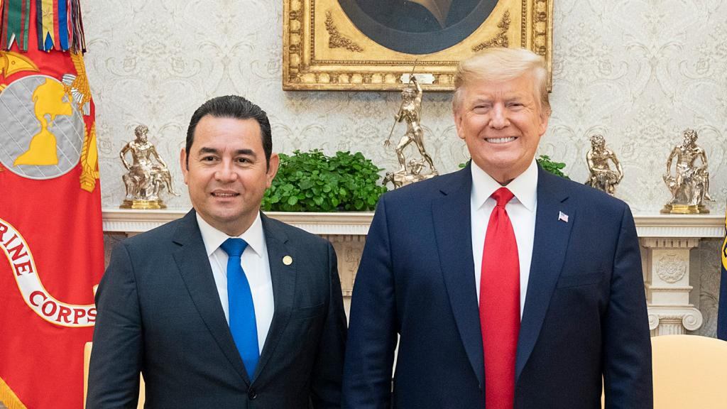 Jimmy Morales and Donald Trump