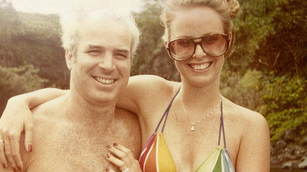 John and Cindy McCain on their honeymoon in Hawaii